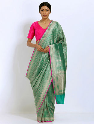 Green Benarasi Silk Saree