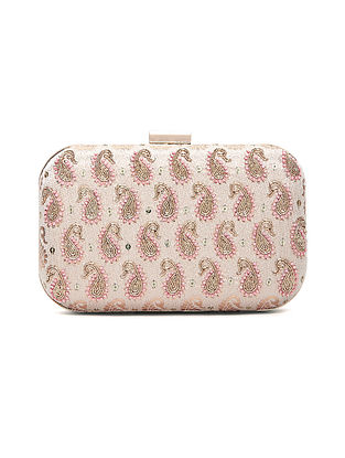 Ivory Handcrafted Chanderi Silk Clutch