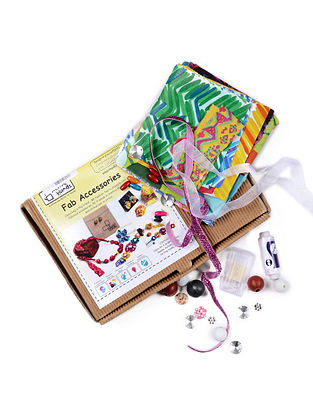 Fab Accessories DIY Kit with Fabric and Beads