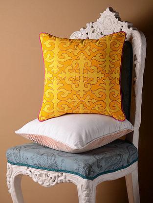 Yellow Shrydak Cushion Cover  16in x 16in