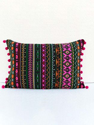 Multicolored Acrylic Cushion Cover (21in x 14in )