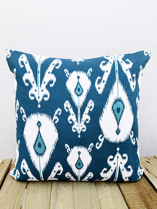 Multicolored Printed Cotton Cushion Cover (16in x 16in )