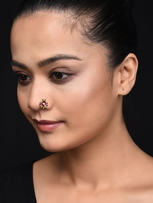 Pink Gold Plated Silver Nose Clip