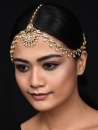 Gold Plated Kundan Inspired Silver Mathapatti