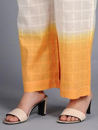 Orange-Yellow Dip-dyed Cotton Pants