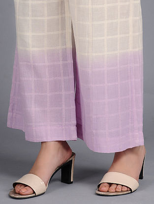 Lilac Dip-dyed Cotton Pants