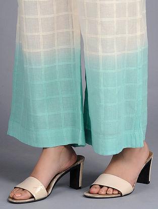 Aqua Blue Dip-dyed Cotton Pants