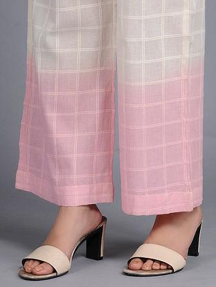 Blush Pink Dip-dyed Cotton Pants