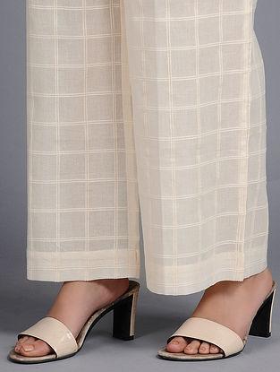 Ecru Dip-dyed Cotton Pants