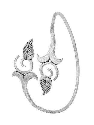 Classic Silver Tone Brass Adjustable Cuff
