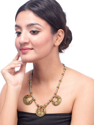 Classic Dual Tone Brass Necklace