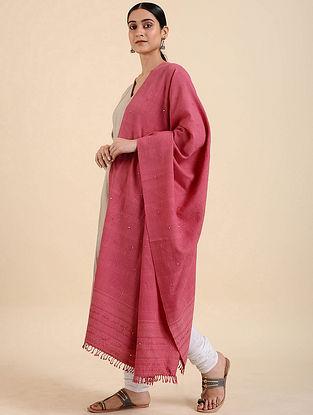 Pink Handwoven Merino Wool Shawl
