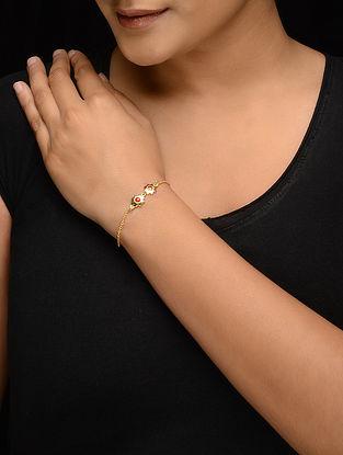 Red Enameled Gold-plated Silver Bracelet