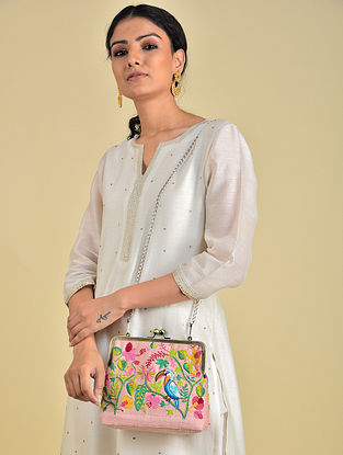 Multicolored Hand Embroidered Parsi Work Batuwa Sling