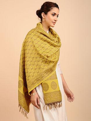 Yellow Benarasi Muga Silk Stole