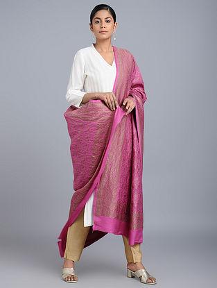 Pink Benarasi Muga Silk Dupatta