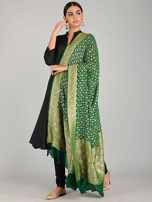 Green Bandhani Georgette Dupatta