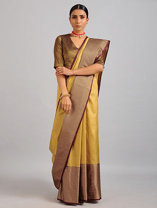 Yellow Handwoven Benarasi Silk Saree