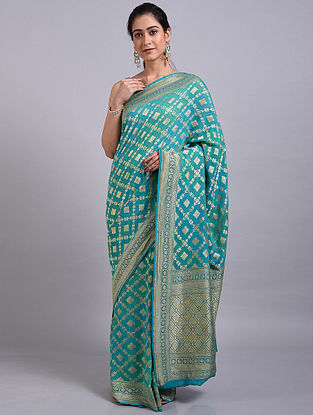 Blue Handwoven Benarasi Georgette Saree