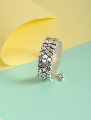 Silver Tone Handcrafted Bangle