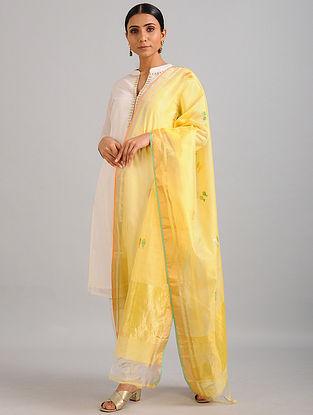 Yellow Chanderi Dupatta with Zari