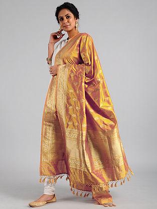 Copper Handwoven Benarasi Katan Silk Dupatta