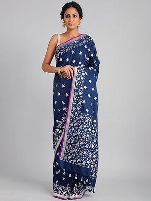 Royal Blue Handwoven Benarasi Katan Silk Saree
