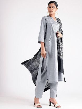 Black-Ivory Sozni-embroidered Pashmina Shawl