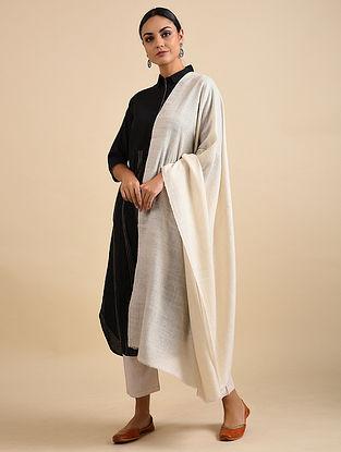 Ivory Hand Dyed Pashmina Shawl