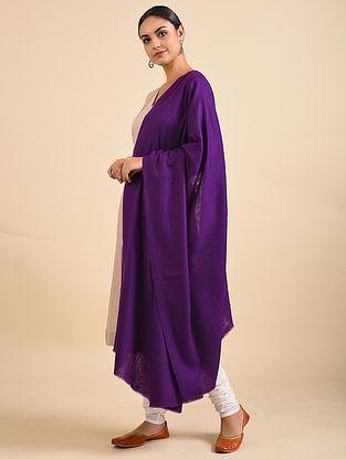 Purple Hand Dyed Pashmina Shawl