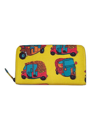 Multicolored Printed Cotton Wallet