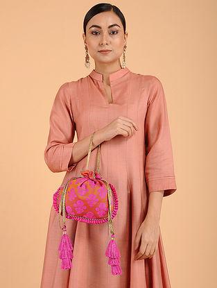 Pink Orange Banarasi Potli