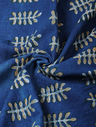 Indigo Ajrakh-printed Cotton Fabric
