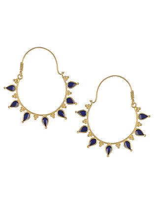 Blue Enamelled Gold Tone Bali