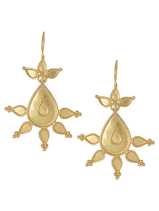 Gold Tone Floral Small Earrings