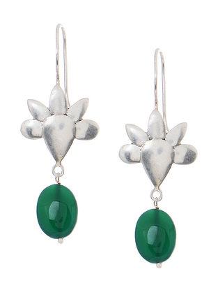 Green Quartz Silver Earrings