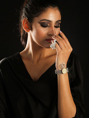 Vintage-Inspired Silver Adjustable Ring