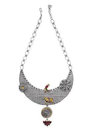 Dual Tone Vintage Silver Necklace