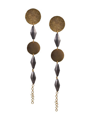 Dual Tone Handcrafted Earrings