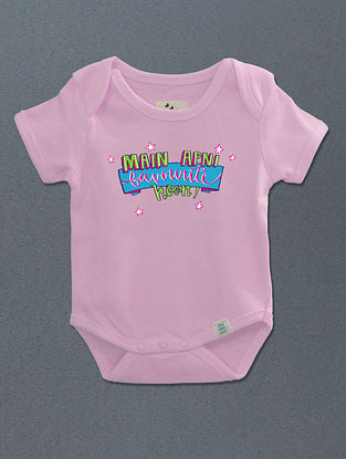 Main Apni Favourite Hoon Pink Cotton Onesie