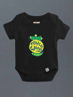 Touchwood Black Cotton Onesie