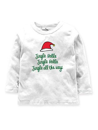 Jingle Balle Jingle Balle Jingle All The Way White Cotton T-Shirt