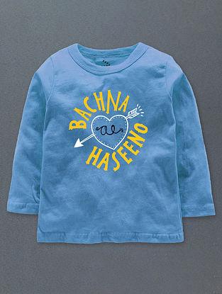 Bachna Ae Haseeno Blue Cotton T-Shirt