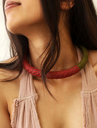 Red Green Handcrafted Necklace