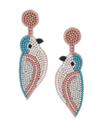 Multicolored Beaded Hand Embroidered Earrings