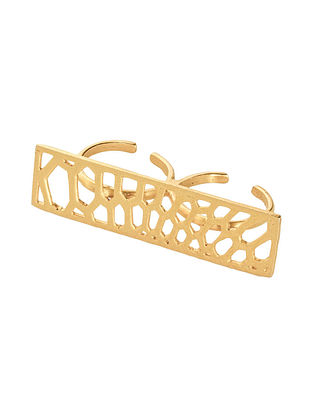 Gold Plated Brass Ring