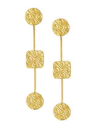 Gold Plated Brass Earrings