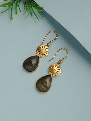 Labradorite Gold Plated Handcrafted Earrings
