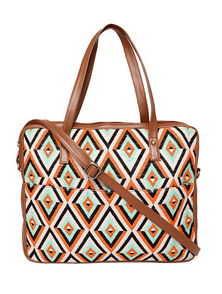 Multicolored Handcrafted Woven Cotton Jacquard Handbag