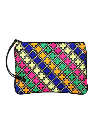 Multicolored Handcrafted Pouch